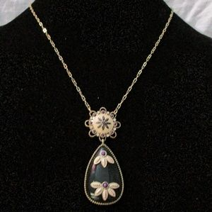 Lia Sophia gold necklace with pendant